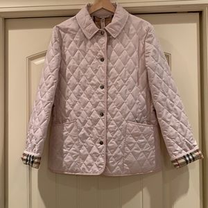 NWOT Burberry London Quilted Jacket Pink Small
